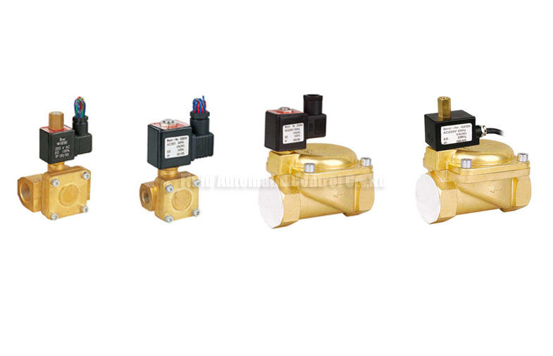 Directly Acting 2 Way Pneumatic Solenoid Valve , 15 mm Water Brass Valve