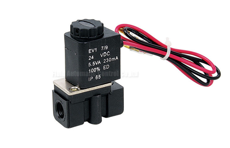 2.5mm Plastic Steel Two Position Two Way Solenoid Valve , Direct Acting Valve