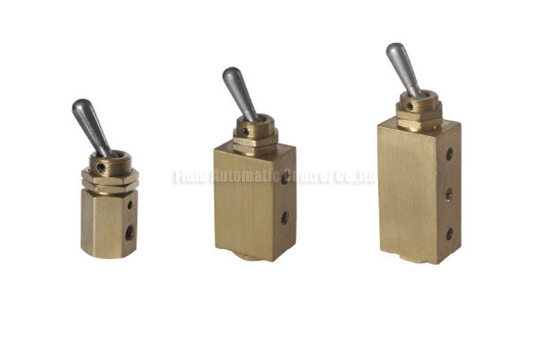 Miniature Two Position Five Way Manual Directional Control Brass Hand Toggle Valve