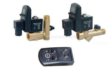 palero automático del contador de tiempo del latón de 16bar 5m m con el filtro del tamiz y la válvula del drenaje