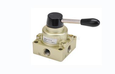 """3 válvula de transferencia manual neumática de la mano del control direccional de la manera de la posición 4 G1/4 """" ~G1/2"""""""